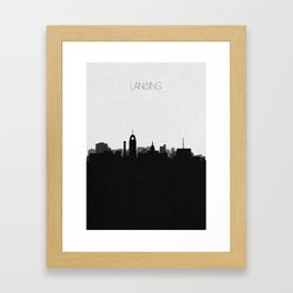 City Skylines: Lansing Framed Art Print