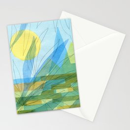 City by a river #2 Stationery Cards