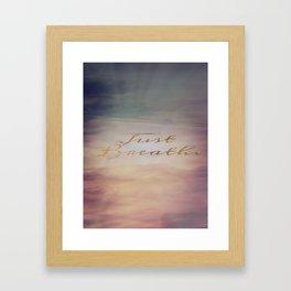 Just Breathe | Water Clouds Sunset Framed Art Print