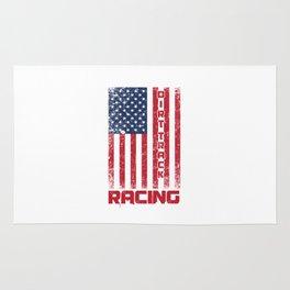 Dirt Track Racing American Flag Racer Auto Racing Race Cars Gifts Rug