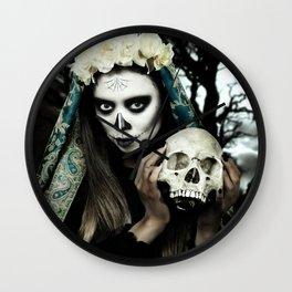 Dia de los Muertos 2 Wall Clock