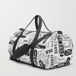 Gamer Lingo-White and Black Duffle Bag