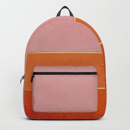 Orange, Pink And Gold Abstract Painting Backpack
