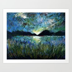 Twilight on a Transylvanian Lake Art Print