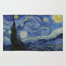 The Starry Night by Vincent van Gogh Rug