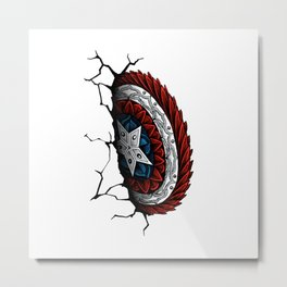 Cap. America Shield (Color) Metal Print