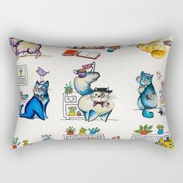Cat in a Hat Rectangular Pillow