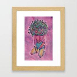 fairy floss Framed Art Print