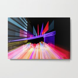 Moving Out zoom burst photograph Fremont Theater San Luis Metal Print