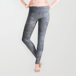 Speckled Blue and Gray Marble Leggings