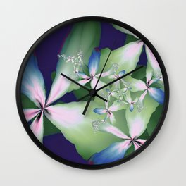 Flowers From The Digital Studio Wall Clock