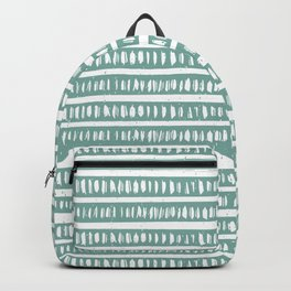 Mudcloth Lines | Teal Backpack
