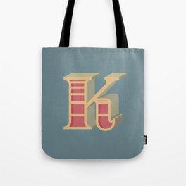 Alphabet Drop Caps Series- K Tote Bag