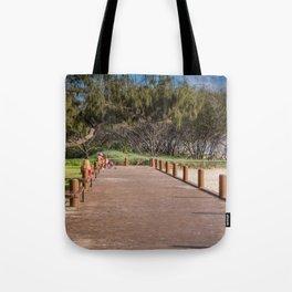 Beachside Boardwalk Tote Bag