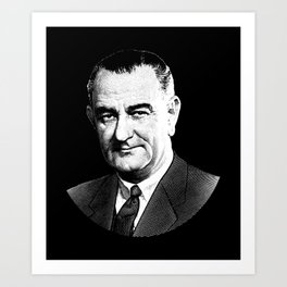 President Lyndon Johnson Graphic Art Print