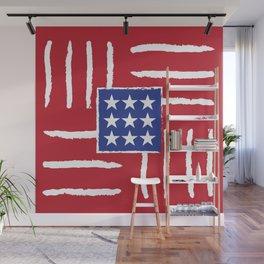 Patriotic Finger Paint Wall Mural