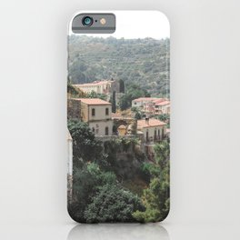 Mediteranian view | Sicily Italy mountain rooftop photography art print iPhone Case