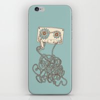 cassette iPhone & iPod Skins featuring Cassette / Cassette by Matthew Fleming