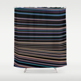Softly Toned Stripes Shower Curtain