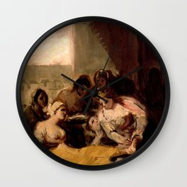 """Francisco Goya """"Saint Isabel of Portugal Healing the Wounds of a Sick Woman"""" Wall Clock"""