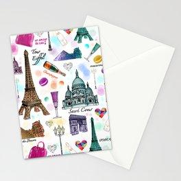 Voyage à Paris (Watercolor) Stationery Cards