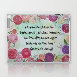 Floral Quote Laptop & iPad Skin