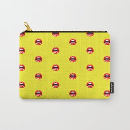 SEXY LIPS ((sunshine yellow)) Carry-All Pouch