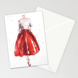 Red skirt / red lips Stationery Cards