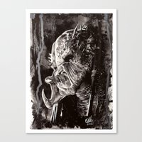 predator Canvas Prints featuring Predator by Stephanie Nuzzolilo