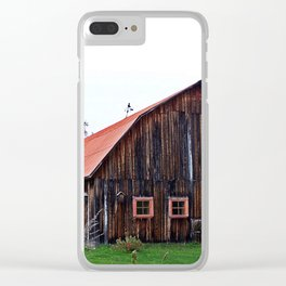 Orange Barn Clear iPhone Case