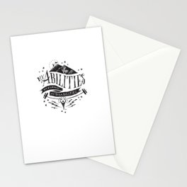 My Abilities Outweigh My Disabilities Stationery Cards