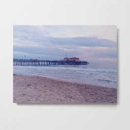 Malibu Pier Metal Print