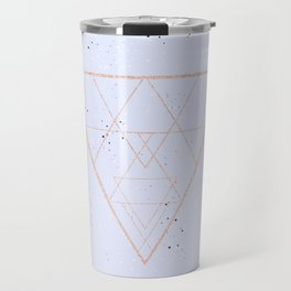 lilac speckled with rose gold triangle Travel Mug
