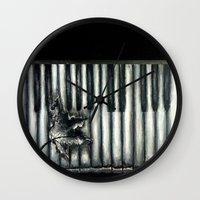rustic Wall Clocks featuring Rustic by Mandi Ward