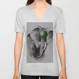 The elephant and the apple Unisex V-Neck