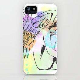 Watercolour Sleeping Angel iPhone Case
