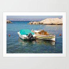 Floating Marseille Art Print