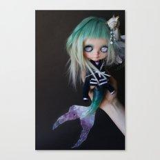 LITTLE MARINERITA SIREN (Ooak BLYTHE Doll) Canvas Print