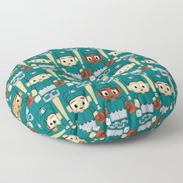 Baseball Teal and Grey - Super cute sports stars Floor Pillow