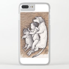 Afternoon Nap Clear iPhone Case