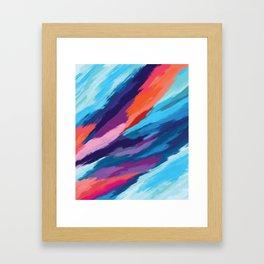 Colorful Brushstroke Digital Painting Framed Art Print