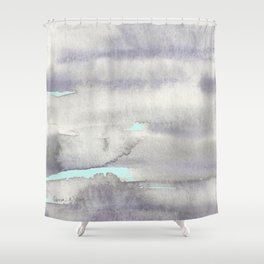 Stormy Weather with Blue Sky Shower Curtain