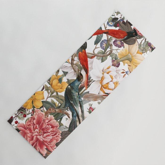 Floral and Birds XXXV Yoga Mat