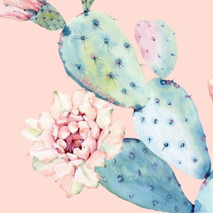 Rose Desert Cactus on Pink by Nature Magick Leggings