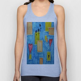 Shapes 3 Abstract Art by Saribelle Rodriguez Unisex Tank Top