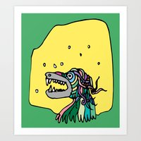 Monster coloured Art Print