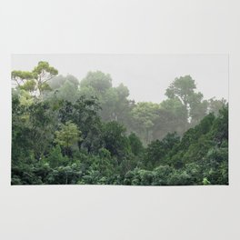 Tropical Foggy Forest Rug