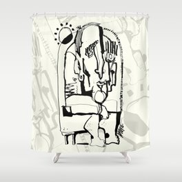 Freezing in Sunlight Shower Curtain
