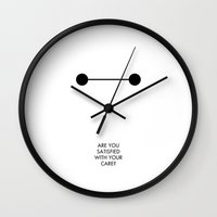baymax Wall Clocks featuring Baymax by Angelina Fenty