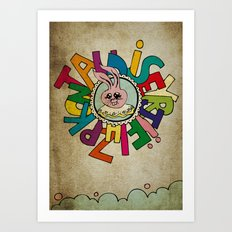 Bunny Obsession Again! Art Print